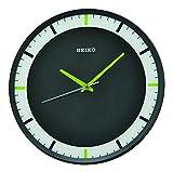 Seiko Relojes de Pared de plástico Negro, 307 mm