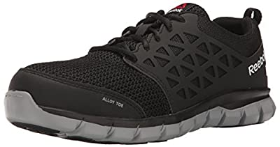 Reebok Work Men's Sublite Cushion Work RB4041 Industrial and Construction Shoe, Black, 12 W US