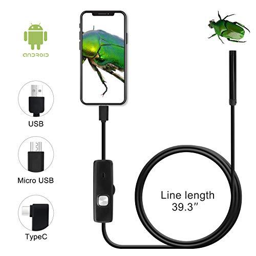 QiCheng&LYS, Telecamera di ispezione Wireless, endoscopio WiFi Impermeabile 1200P ad Alta Definizione, Adatta per Smartphone Android e iOS, Tablet, Computer Desktop (1m)