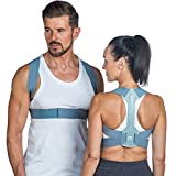 BACK Posture Corrector for Women & Men–London Spine Clinic | Adjustable Posture Brace Support | Improves Posture, Prevents Slouching & Relieves Pain (Large)