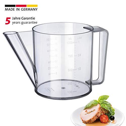 Westmark Fett-Trenn-Kanne, Degraissier-Kanne, Füllvolumen: 1 Liter, Kunststoff, Transparent, 30712260