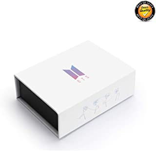 Kpop BTS Gift Box Army Mini Box Bangtan Boys BTS Album High Guality Gift Case Accessories for Jungkook Jimin V Bracelet Button Necklace Key Chain Ring (95 V Box)