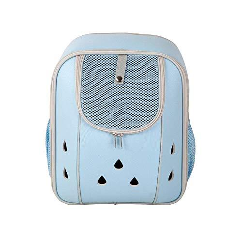 JJL Mochila portadora de mascotas de lujo para perros y gatos pequeños, cachorros | Diseño ventilado, entrada a dos caras, funciones de seguridad y soporte de respaldo | para viajes, senderismo, uso a