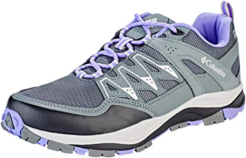 Columbia Women's Wayfinder Outdry Hiking Shoe, Waterproof & Breathable, Graphite, Fairytale, 7 Regular US