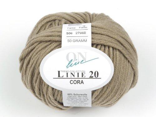 Online Wolle: Linie 20, Cora, Merino-Strickgarn, col.506, 50 gr/85m
