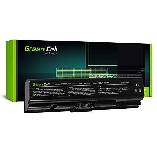Green Cell® Standard Serie Batería para Toshiba Satellite A200-1VF A300-15P A500-1H5 L555-10M Satellite Pro L300-1FO L500-1T2 Ordenador (6 Celdas 4400mAh 10.8V Negro)