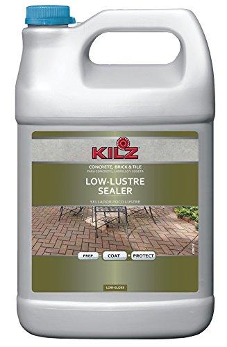 KILZ L390401 Interior/Exterior Concrete, Brick, and Tile Liquid Masonry Sealer, Lustre (Low-Gloss), Clear, 1-Gallon, 1 Gallon, 4 l