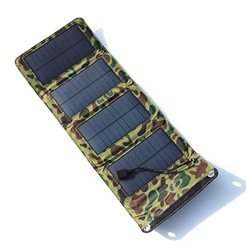 Hanone USB Panel Solar Célula Solar Portátil Plegable Impermeable Panel Solar Cargador Verde Ejército Verde Ejército