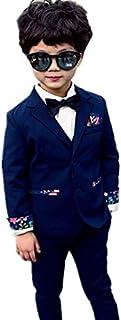 子供タキシード キッズ服 男の子ベビーブルースーツ衣装 ベスト、ズボン、コート  卒業式/入園式/発表会/七五三/ジャケット 90~150CM