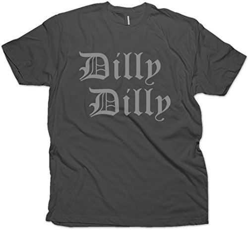Daft Threads ~ Dilly Dilly Beer T-Shirt Charcoal (X-Large)