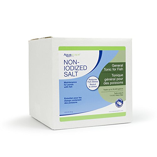 Aquascape 40003 Pond Salt Treatment for Pond and Garden Water Features, 40-Pound Bulk