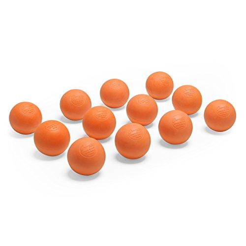 Champion Sports Bolas de lacrosse oficiais – Várias cores em pacotes de 1, 2, 3, 6 e 12, Pacote com 12, Laranja, 12-Pack