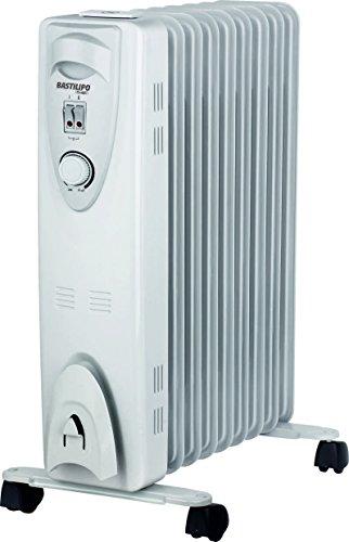 Bastilipo Rac 9-2000W Radiador de Aceite térmico-2000W de 9 Elementos radiantes con humidificador Natural Incluido, 2000 W, Acero, Blanco