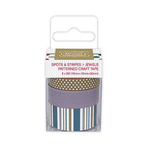 Motivo a pois e strisce, motivo: gioielli-Nastro adesivo di carta da regalo colorata