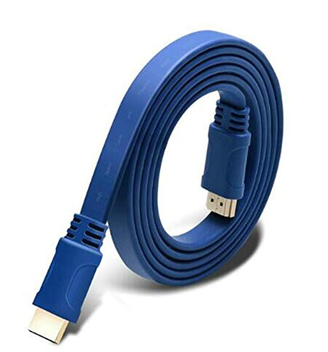 Duradero Cable HDMI Plana bañados en Oro Cable de Alta Velocidad 2.0...