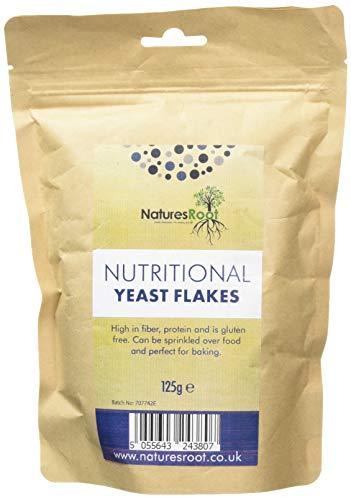 Natures Root Lievito Alimentare in Scaglie - Vegetariano e Vegano | Miglior Gusto | Qualità Premium (125g)