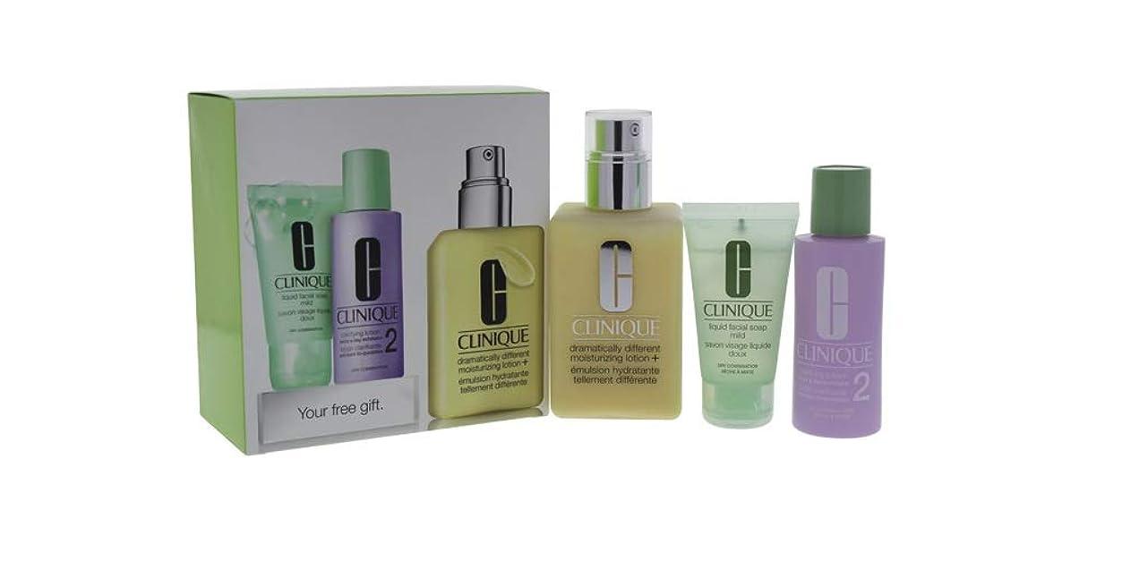 ステーキファックスすでにクリニーク 3-Step Skin Care System (Skin Type 2): DDML+ 200ml + Clarifying Lotion 2 60ml + Liquid Facial Soap Mild 30ml 3pcs並行輸入品