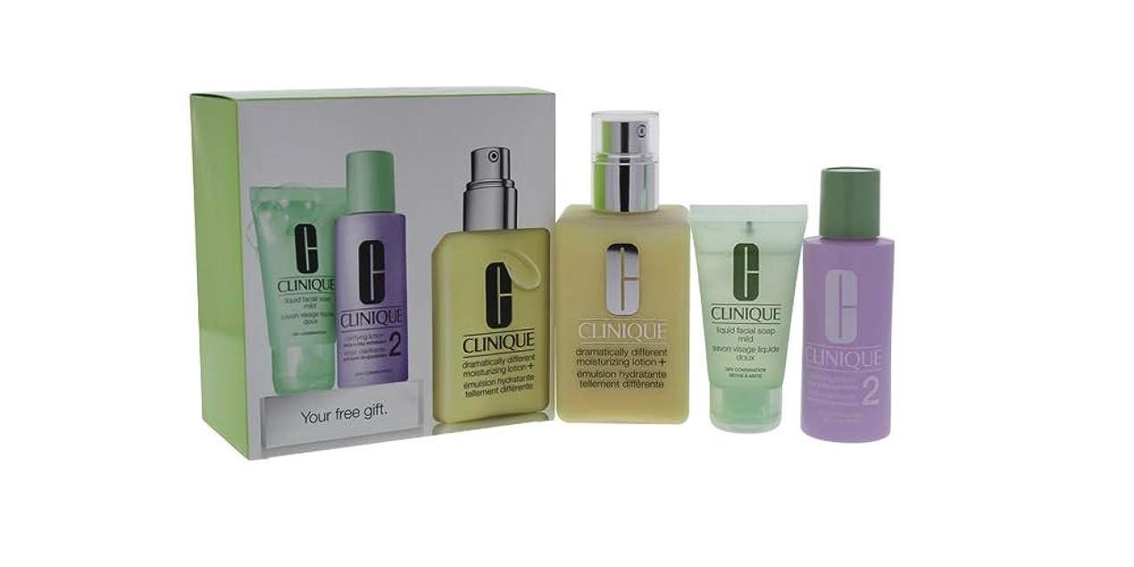 乗って四面体組み合わせるクリニーク 3-Step Skin Care System (Skin Type 2): DDML+ 200ml + Clarifying Lotion 2 60ml + Liquid Facial Soap Mild 30ml 3pcs並行輸入品