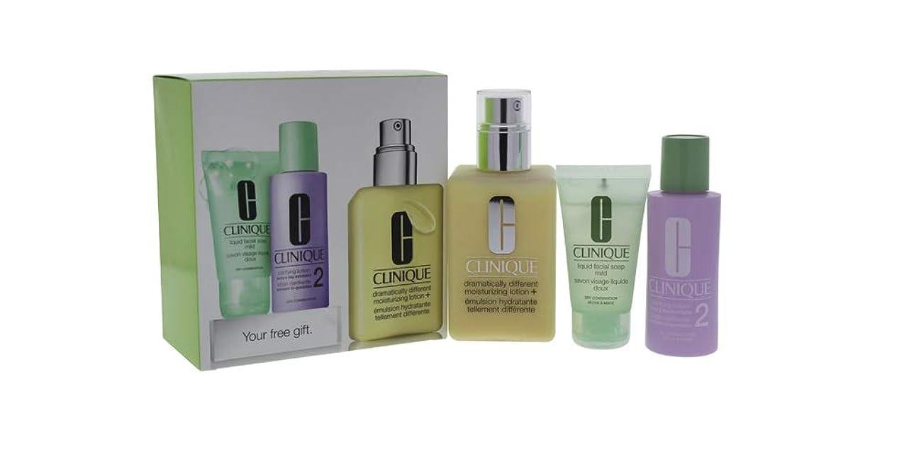 海藻楽しむ値するクリニーク 3-Step Skin Care System (Skin Type 2): DDML+ 200ml + Clarifying Lotion 2 60ml + Liquid Facial Soap Mild 30ml 3pcs並行輸入品