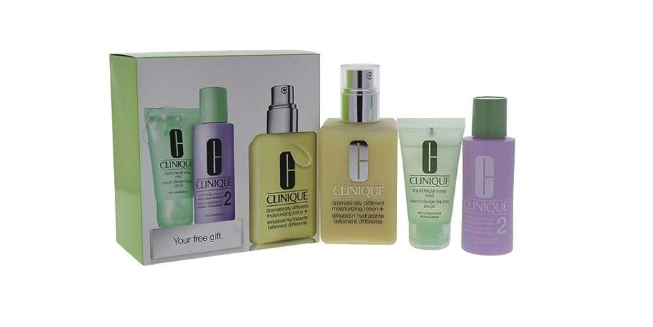 取得するめまい遺棄されたクリニーク 3-Step Skin Care System (Skin Type 2): DDML+ 200ml + Clarifying Lotion 2 60ml + Liquid Facial Soap Mild 30ml 3pcs並行輸入品