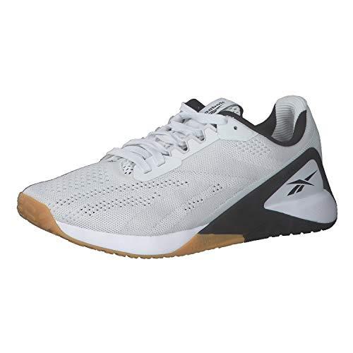 Reebok Herren Nano X1 Cross Trainer, White/Black Rubber Gum, 42.5 EU