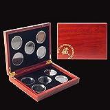 Ungfu Mall コインケース 10枚収納 コインホルダー 木製 硬貨 記念コイン保管収納 コレクションケース