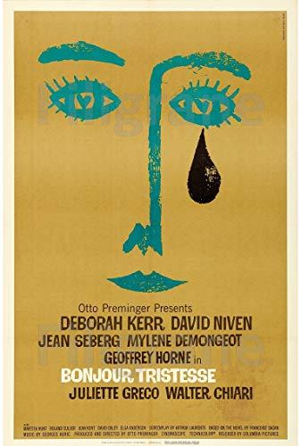 PostersAndCo TM Bonjour TRISTESSE Film Ryaq-Poster/Kunstdruck 60 x 90 cm * d1 Poster Vintage