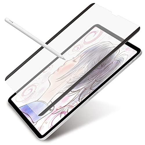 JTT Online 自由に着脱できる磁石式 ペーパーライク フィルム iPad Pro 12.9 インチ用 磁石っつく マグネット固定式 Apple Pencil 対応 MPALFIP129