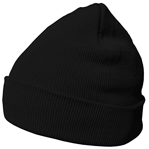 DonDon Wintermütze Mütze warm klassisches Design modern und weich schwarz