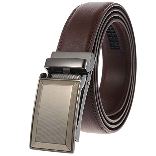 Click Belt As Seen On TV for Mens Jeans Dress Suit Adjustable with Open Buckle Automatic Ratchet Belts Strap Width 1 1/8'