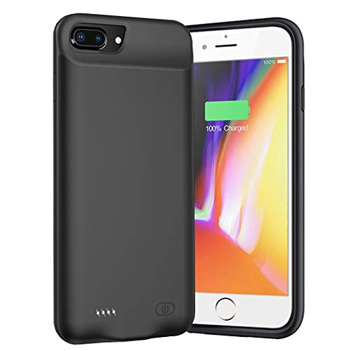 Battery Case for iPhone 8 Plus/7 Plus/6s Plus/6 Plus, 8000mAh Ultra-Slim Portable Charger Case Rechargeable Battery Pack Charging Case Compatible with iPhone 8 Plus/7 Plus/6s Plus/6 Plus (5.5 inch)