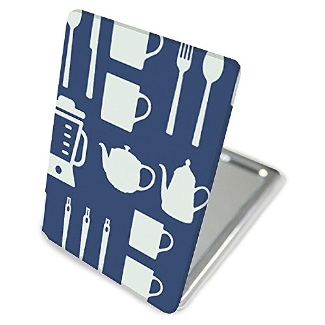 ビザ後ろに高度な(カリーナ) Carine 手鏡 コンパクトミラー ハンドミラー 拡大鏡付 持ち歩きに便利 かわいい kgm019(A) キッチン デザイン キッチン kitchen