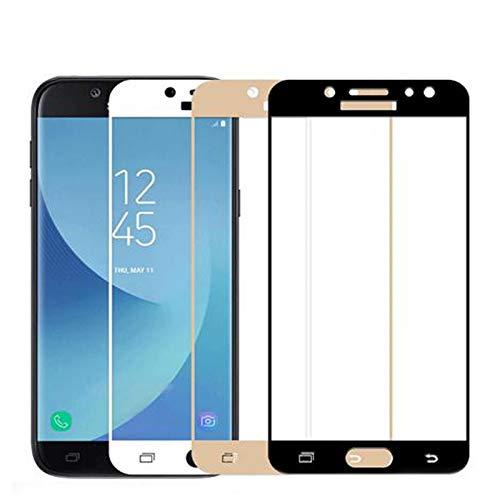 LOUQBH 2 pzas para Samsung Galaxy J4 J6 Plus Cubierta de Vidrio Templado para Samsung Galaxy S7 S5 S4 S4 S3 Nota 5 4 Protector de Pantalla Anti-Fall Film, Dorado, para Samsung S5 para Samsung S7