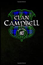 Clan Campbell: Scottish Clan Tartan Plaid Shield - Blank Lined Journal with Soft Matte Cover