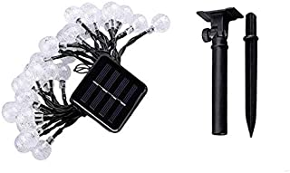 SIZOO - Lighting Strings - Solar String Lights 30 LED Crystal Ball Waterproof Solar Powered Fairy Lighting for Garden Home...