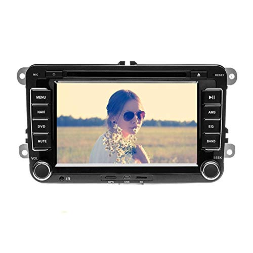 Flashing 7'Android Coche Multimedia Player 2 DIN WiFi GPS Navegación Autoradio para Skoda Passat B6 Polo Golf 4 5 Touran Seat FM (Size : Without Camera)