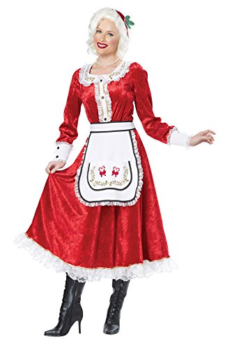 California Costumes Women's Classic Mrs. Claus Adult, Red/White, X-Large