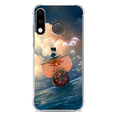 Gogoyang Ultra-Thin Clear Coque Transparent Soft TPU Case Cover Coque for Huawei P30 Lite-Manga One-Piece Anime 3