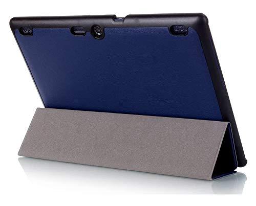 Kepuch Custer Hülle für Lenovo Tab 3 10 Business TB3-X70F TB3-X70N/Tab 3 10 Plus/Tab 10 TB-X103F/Tab 2 X30F X30M A10-30F A10-30L A10-70F A10-70L,PU-Leder Hüllen Schutzhülle Tasche Hülle - Blau