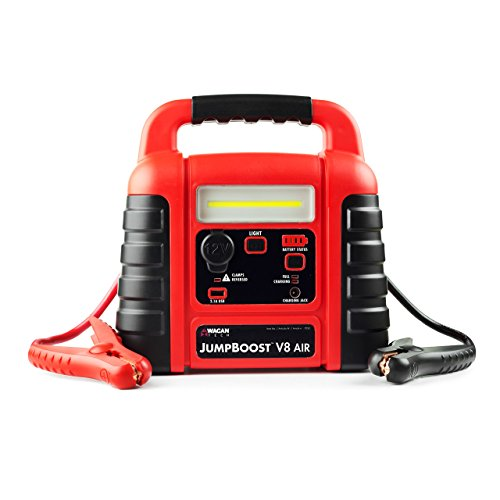 New Wagan EL7552 Jumpboost V8 Air 1000 Peak Amps Jump Starter with 260 PSI Air Compressor, 1 Built-i...