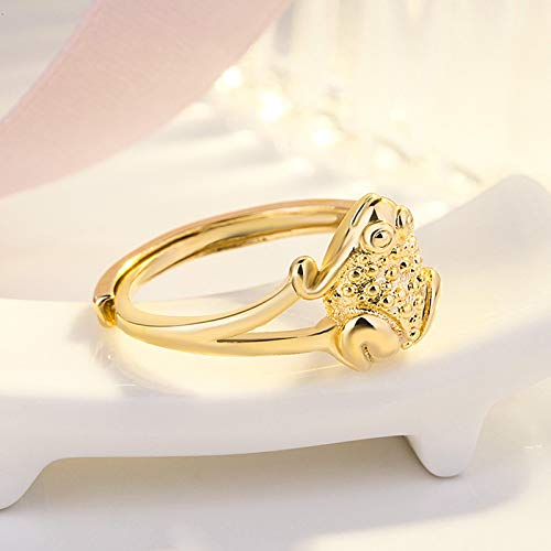 Janly Clearance Sale Women Rings , Gold-plated Open Ring Index Finger Vietnam Gold-plated Ring , Valentine's Day Birthday Jewelry Gifts for Ladies Girls (Gold)