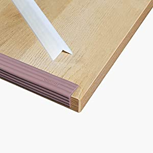 LONGFITE Edge Safety Bumpers Corner Protectors Furniture Table Fireplace Guards Baby Proofing with Wide Coverage and Safe Silicone Material (Semitransparent)