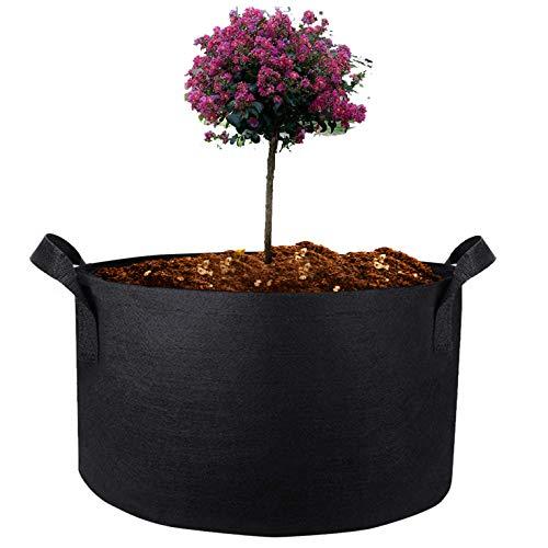 不織布ポット フラワーポット フェルトガーデンバッグ プランター 野菜プランタ 家庭菜園鉢植え 大きな植栽布 鉢・プランタ 1個セット