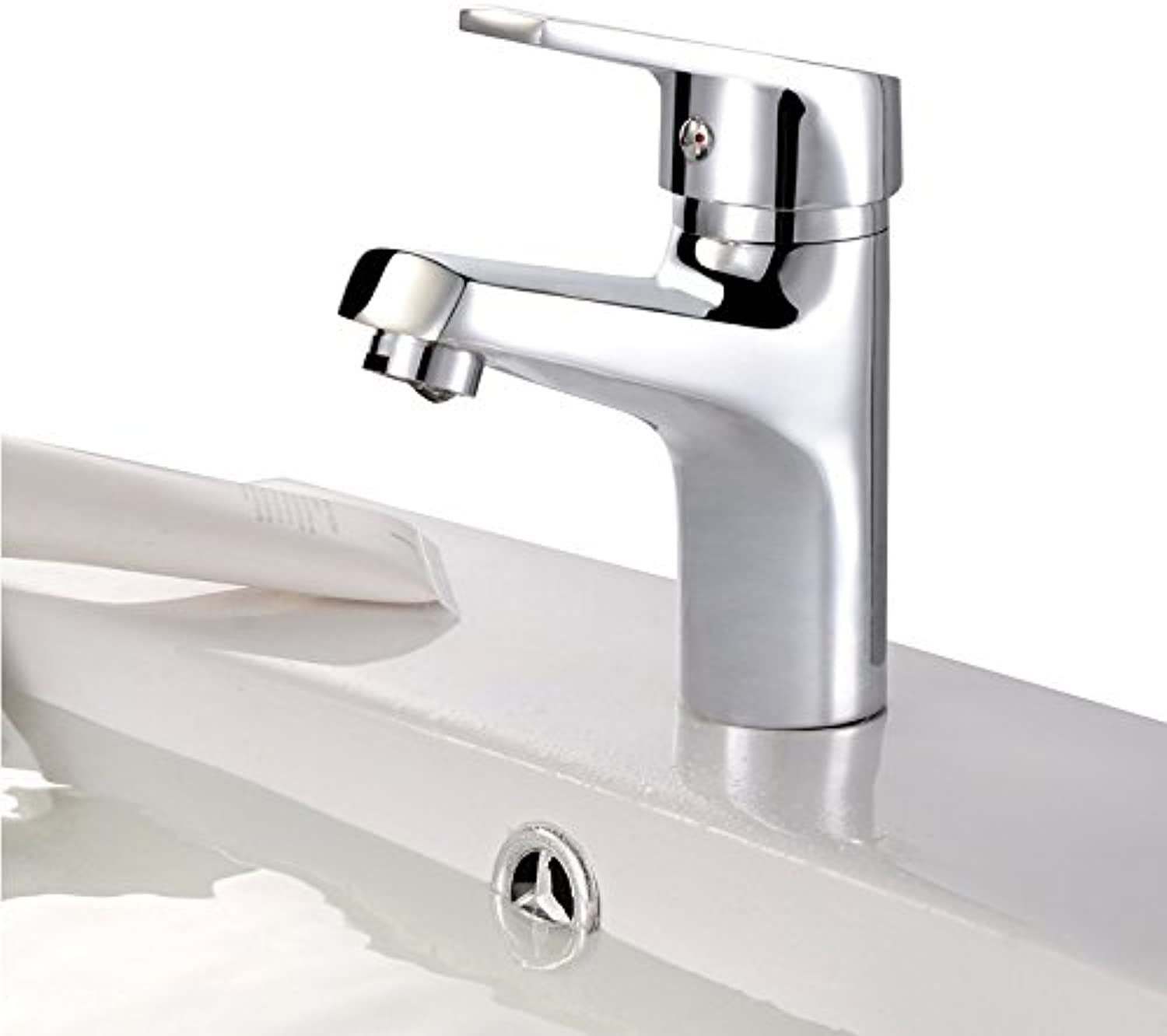 Decorry Full Copper Single Hole Cold and Hot Water Basin Faucet