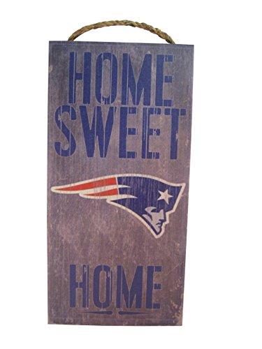 "New England Patriots Holzschild ""Home Sweet Home"", 15,2 x 30,5 cm"