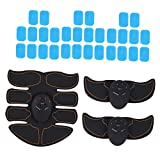 F Fityle Abs Trainer, Muscle Stimulator Abs Arm Leg Trainer Belt con 30 Almohadillas para Hombres Y Mujeres
