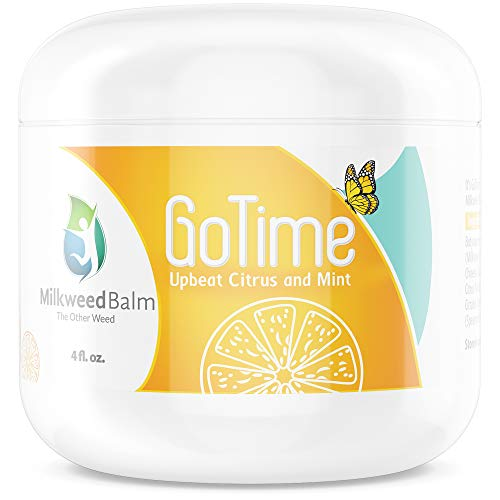 Milkweed Balm for Joints  Topical Pain Relief Cream Infused with Citrus & Mint Essential Oils to Encourage Energy & Vitality  Helps Soothe Arthritis, Sore Muscles, Inflammation, Headaches, More