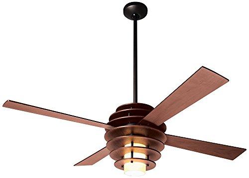 52' Modern Fan Stella Mahogany-Bronze Ceiling Fan with Light