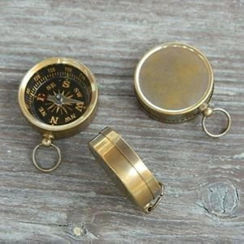 Antiqued Brass Compass 1.5 mini Pocket Compass Nautical Marine by NAUTICALMART