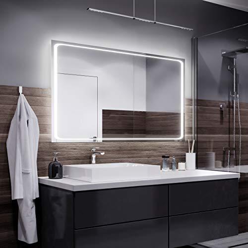 Alasta Barcelona Espejo - 100x60cm Espejo de baño con iluminación LED - Bianco Firo LED
